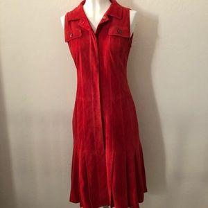 Carolina Herrera red suede dress
